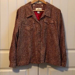 ERIN LONDON Cheetah Print Jacket 1X